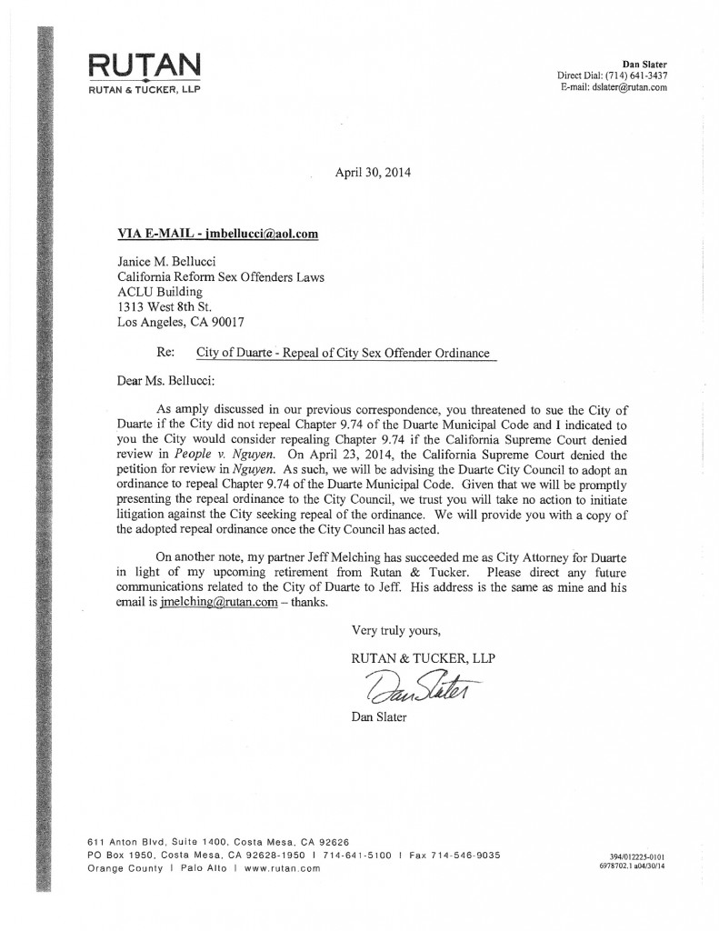 Duarte - Repeal - April 2014